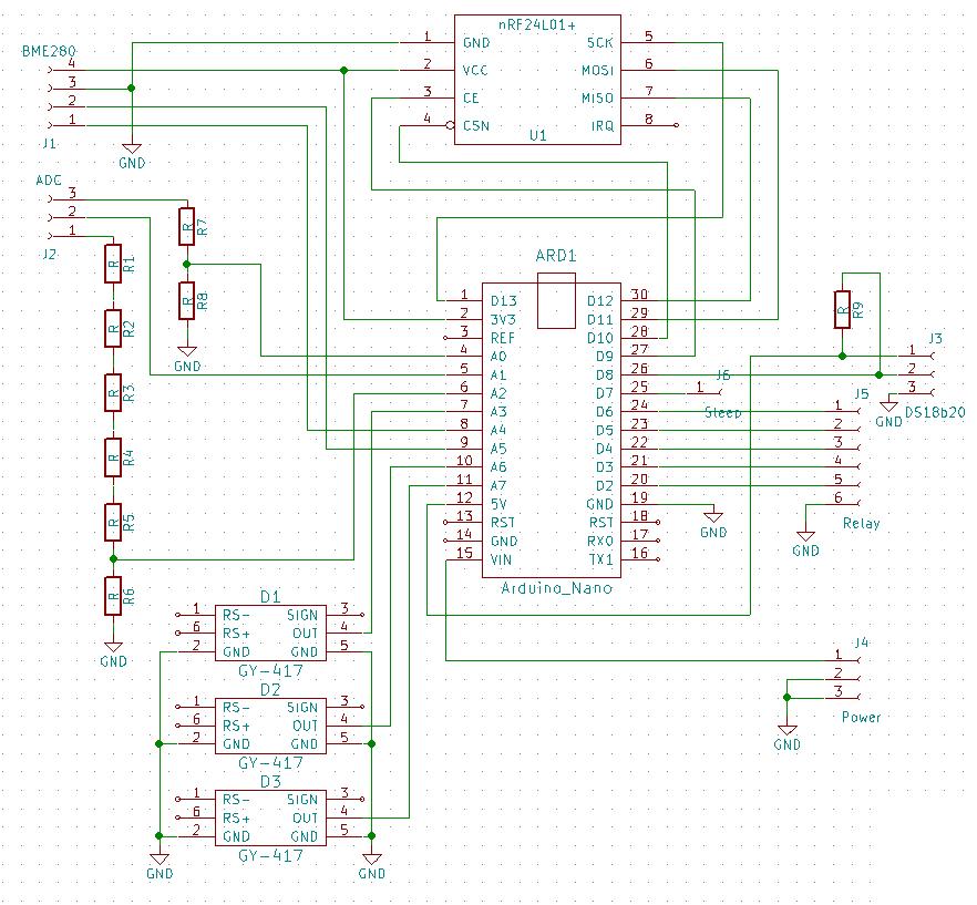 Схема принципиальная диспетчера ведрусохода